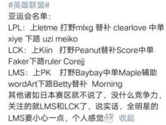LOL亚运会名单出炉:7酱替补惹争议,uzi却这样说!