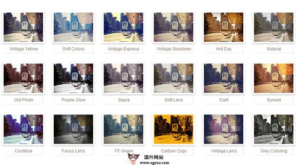 Rollip:在线Lomo风格图片编辑在线工具神器