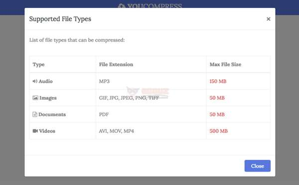 YouCompress 在线免费文件压缩在线工具神器