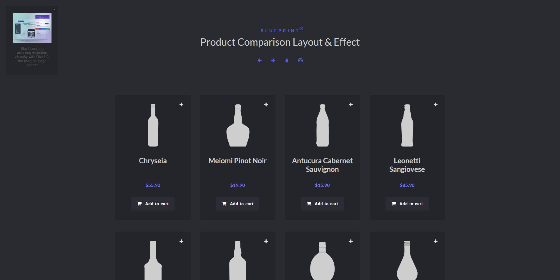 好看的产品对比布局-Product Comparison Layout & Effect
