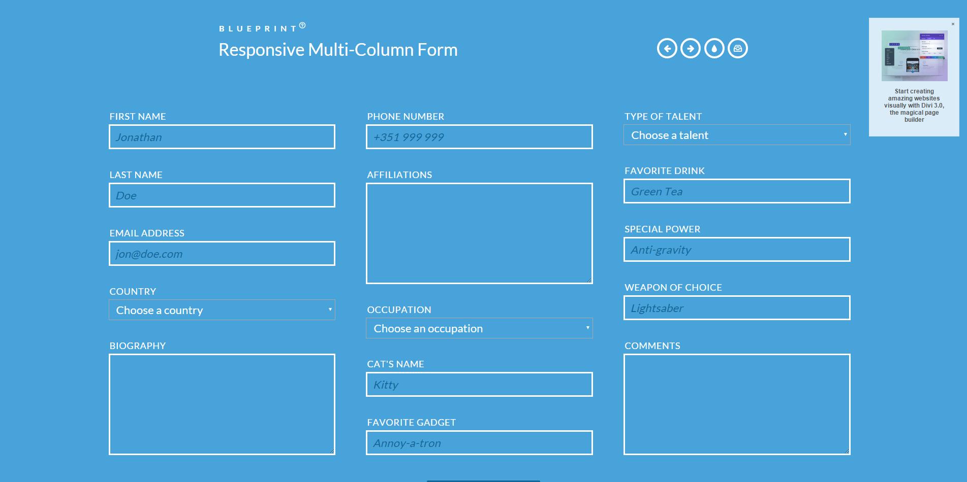 响应式多列表单-Responsive Multi-Column Form