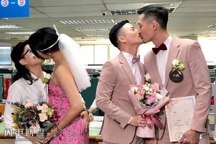 台湾同性婚姻合法第一年,近三千对伴侣登记结婚