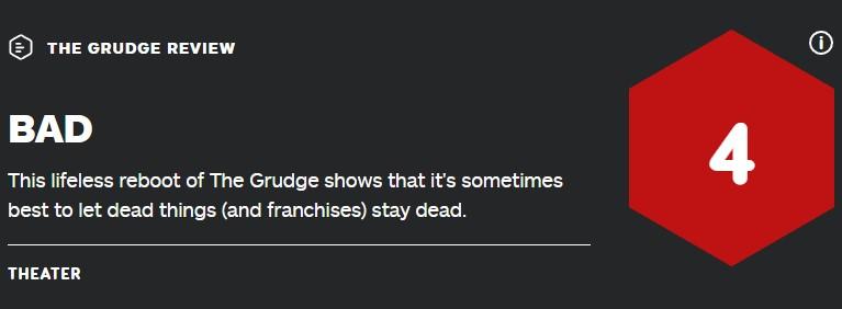 """""""还是别重启了"""" 美版《咒怨》IGN 4分 烂番茄20%"""