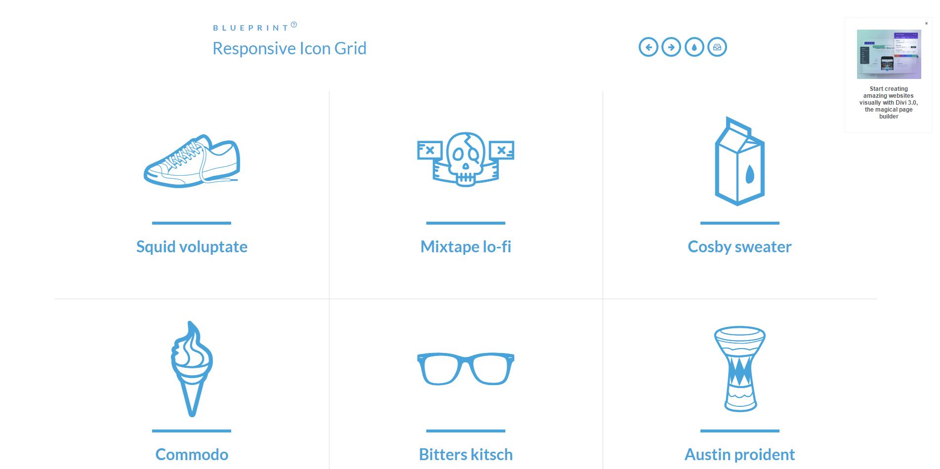 响应式格子布局-Responsive Icon Grid