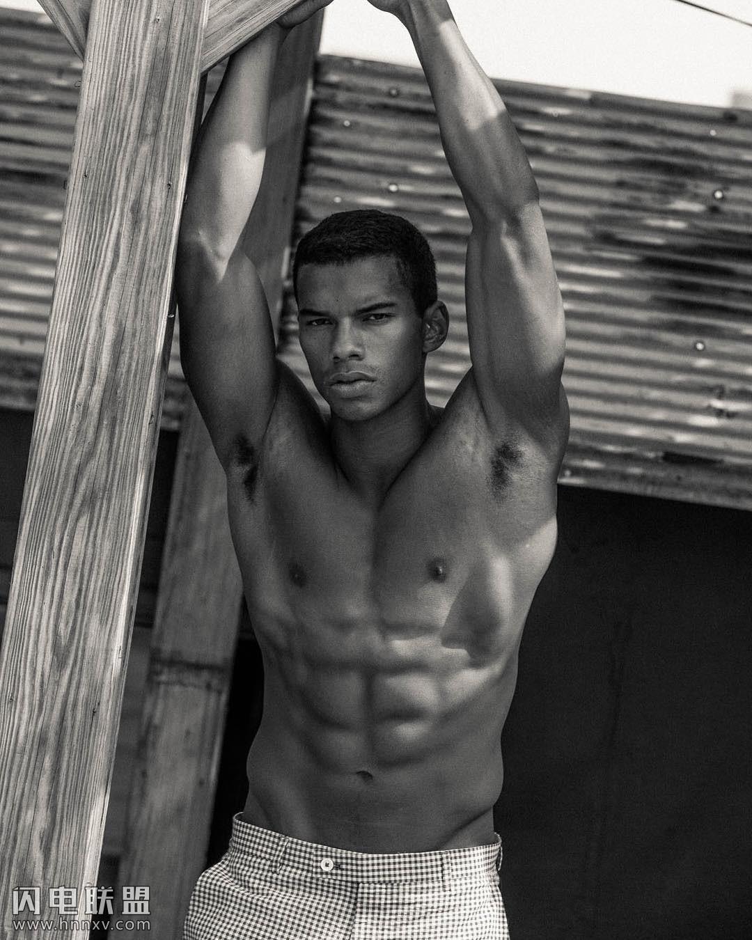 性感欧美黑人帅哥肌肉男写真照片