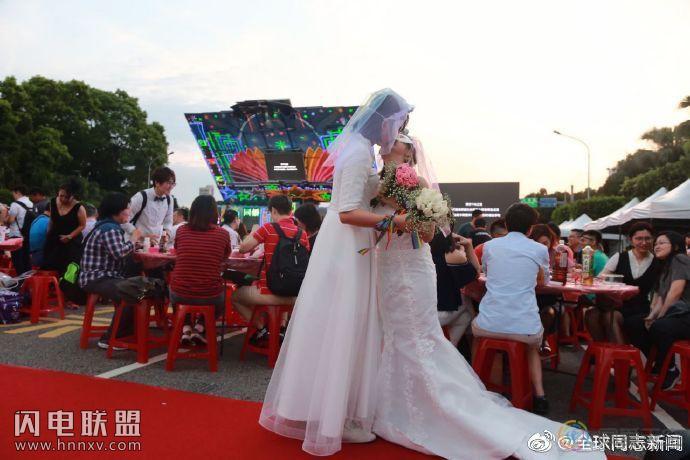 台湾:同性婚姻3个月内,1827对登记结婚,34对离婚