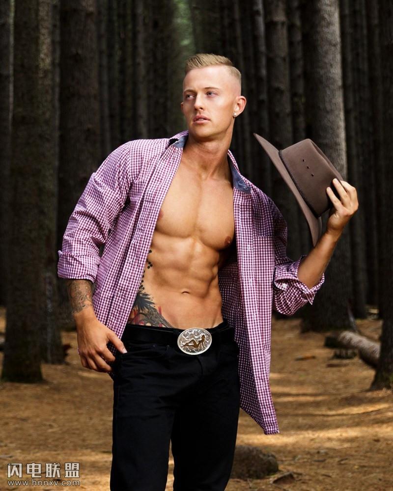 肌肉欧美帅哥男模高清写真图片
