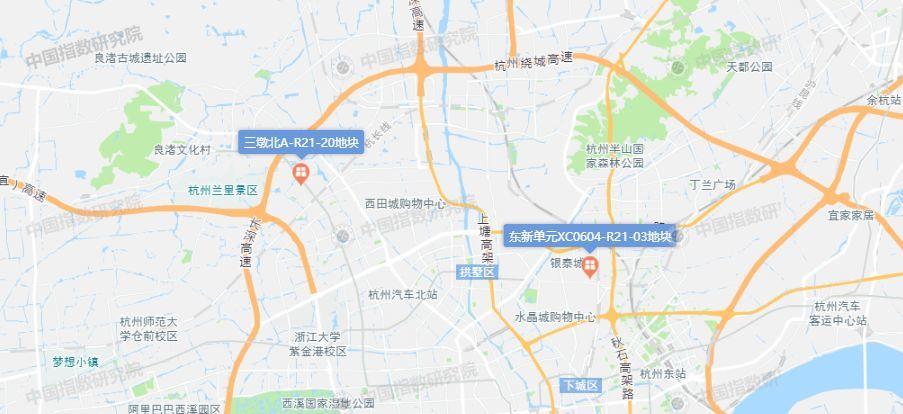 """绿城、钱江房产42.47亿瓜分杭州三墩北、东新单元2宗""""限房价""""宅地"""