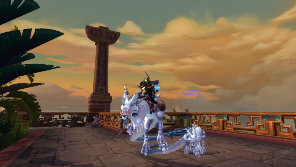 魔兽9.0暗影国度 教你怎么驯服NPC们的翔龙宠物!